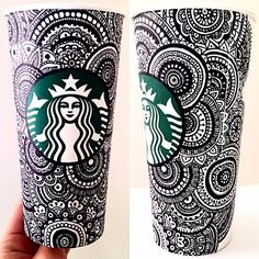 This Sharpie art would look really cool on those new red Starbucks cups! Lots of other permanent marker ideas to inspire older kids art.