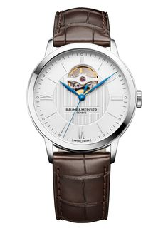 With the Classima 10274, Baume & Mercier reinterprets its iconic model featuring an open balance, in a contemporary design providing a chance to appreciate its entire mechanism. #swissmade #classima #baumeetmercier