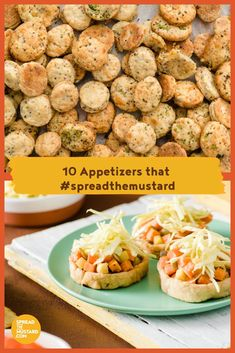 10 Amazing Appetizers that - Spread the Mustard Rub Recipes, Great Recipes, Best Appetizers, Appetizer Recipes, Baked Potato, Mustard, Christmas Recipes, Entertaining, Dip