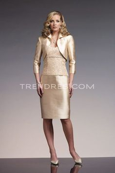 Two Piece Champagne Dresses For Mother Of The Bride New Arrivals