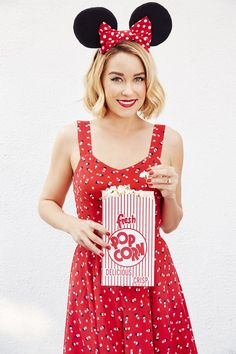 Pin for Later: Lauren Conrad Makes Us Want to Dress Like Minnie Mouse  Disney's Minnie Mouse a Collection by LC Lauren Conrad Open-Back Print Dress ($68)
