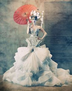 Woweee, now that's a wedding dress / Art Amato Haute Couture inspirational-corsets-and-gowns / Evening wear / bridal / High Fashion / avant garde