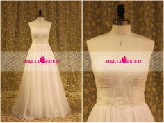 RW428 Pleated Wedding Dress with Pearls Belt A-line Bridal Gown with Zipper Church Bridal Dress Sweetheart Wedding Gown with Court Train by Aegeanbridal on Etsy https://www.etsy.com/listing/193771513/rw428-pleated-wedding-dress-with-pearls