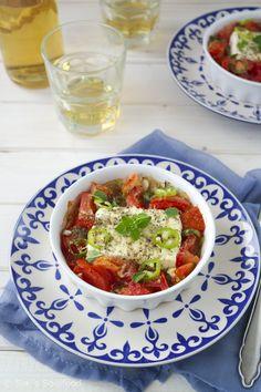 Gebackener Feta mit Tomaten {Bougourdi}