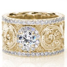 Calabria - Hand Engraved Engagement Rings - Knox Jewelers - Image for Calabria
