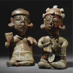 A Nayarit Seated Couple, Ixtlán Polychrome style Protoclassic, ca. 100 B.C.-A.D. 250 | Lot | Sotheby's