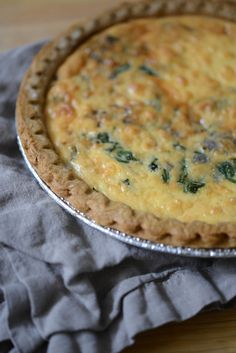Spinach + Feta Quiche.