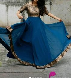 A super chic outfit! these one piece long gowns are the perfect blend of Indian and Western clothing. velvets, silk kotas, silk nets, chiffon & georgette, raw silk to silk brocades. Salwar Designs, Kurta Designs Women, Kurti Designs Party Wear, Best Lehenga Designs, Silk Kurti Designs, Party Wear Long Gowns, Designer Party Wear Dresses, Indian Designer Outfits, Long Gown Dress
