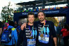 Lee Pace at NYC Marathon finish