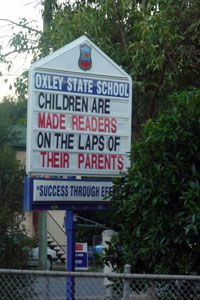 """children are made readers on the laps of their parents""  &  ""success through effort"""