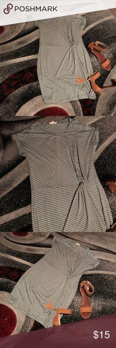 Cute green striped summer dress Dress up or down sandals or boots Ultra Flirt Dresses Midi