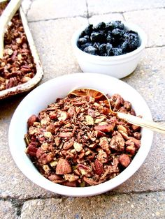 Delicious homemade sugar free, grain free and versatile granola for any diet with 5 grams of protein in 1/4 cup! Vegan, gluten free, paleo.