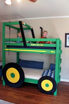 Lisa...next project for Tim.....Tractor Bunk Beds. What little boy wouldn't LOVE this!?