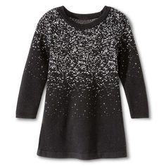 Toddler Girls' Sweater Dresses - Black