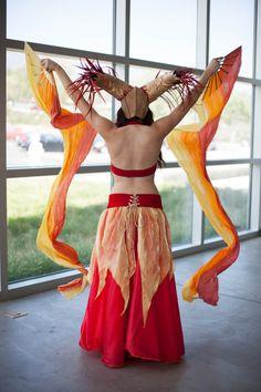 ARIES Goddess of FIRE costume 7pc Headdress by EZorangeDesign