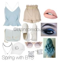 """Bts inspired outfits"" by rachel-ullmann on Polyvore featuring River Island, Moschino, Gap, Jouer, Ted Baker and Jimmy Choo"