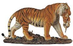 """15"""" Bengal Tiger Statue Figurine Safari Wildlife Wild Cat Animal Figure Nature"""