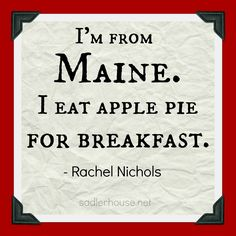 "Apparently Ralph Waldo Emerson enjoyed pie at breakfast. His friend, James Thayer is quoted as saying ""Pie at breakfast was one of Mr. Emerson's weaknesses""."
