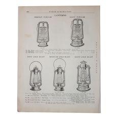 Vintage Lanterns Print