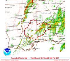 SPC Tornado Watch 562 - http://blog.clairepeetz.com/spc-tornado-watch-562/