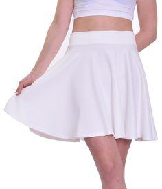 """Ivory Skater Skirt (18.5"""" Length)"""