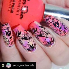 """Stunning nail art by @renai_madisonails using @seasirencosmetics and holding """"Clownfish Conga"""". .  Meet Renae tomorrow! She'll be on deck with as at the Sacred Soul Vibrations Christmas Expo at Penrith RSL while you plunder some oarsome Sea Siren deals. FREE entry. .  www.seasiren.com.au www.sacredsoulvibrationsexpo.com.au .  #seasirencosmetics #nailpolish  #penrith"""