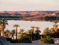Lakes of Ounianga, Chad.    The Sahara desert isn't known for its lakes, but the 18 interconnected lakes that have just been given Unesco status cover a total area of 62,808 hectares and have a maximum depth of 27 metres.     The stunning site comprises two groups of lakes 24 miles apart: the saline-based Ounianga Kebir lakes contain only algae and micro-organisms, while the freshwater Ounianga Serir lakes are home to a huge range of fish.