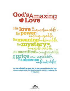 God's Amazing Love - John 3:16