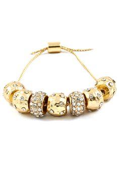 Crystal Polka Dotted Charm Bracelet on Emma Stine Limited