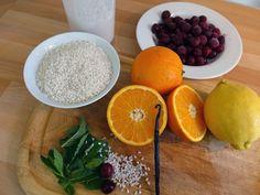 Zutaten für Milchreis mit Vanille und Sauerkirschen #hCG