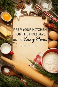 Before the holiday season starts, take some time to spruce up your kitchen organization - in 5 easy steps! /// by Atkinson Drive All Things Christmas, Christmas Holidays, Happy Holidays, Christmas Cooking, Christmas Recipes, Christmas Kitchen, Thanksgiving Recipes, Organization Hacks, Organizing