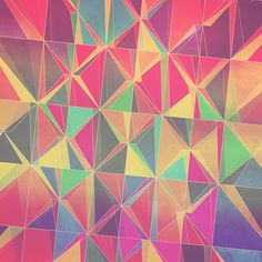 Geometric Print, love these colors, oh so pretty