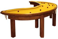 I know it's a Banana Pool Table but instead of using it as a Pool Table I could use it as a desk with a computer on it or a table where he stores some of his objects. I won't be using it as a Pool Table.
