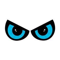 "2-Piece Lighted Blue Eyes Halloween Window Silhouette Decoration Set 17.75"""