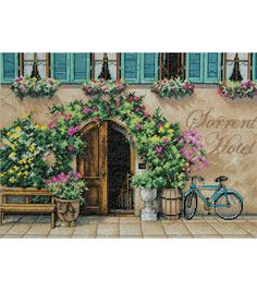 """Dimensions Sorrento Hotel Counted Cross Stitch Kit-14""""X10"""" 14 Count"""