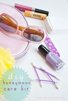 Honeymoon Kit. What a cute idea for a Bridal Shower gift!