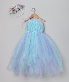 This Blue & Purple Madison Fairy Dress & Halo - Toddler & Girls is perfect! #zulilyfinds