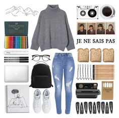 A fashion look from February 2017 featuring cropped shirts, stretchy jeans and leather shoes. Browse and shop related looks. Faber Castell, Bobby, Polaroid, Mango, Toast, Adidas, Shoe Bag, Polyvore, Stuff To Buy