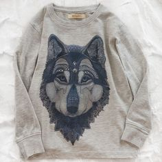 soft gallery wolf tee  by soft gallery