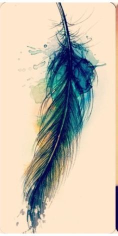 watercolour feather tattoos - Google Search