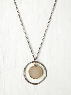 Stone Target Necklace