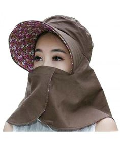 Buy Women's Summer Flap Cover Cap Cotton UPF Sun Shade Hat With Neck Cord Coffee and more Women's Sun Hats enjoy big discount up to off, fast shipping all worldwide. Popular Hats, Pro Bow, Sun Hats, Women's Hats, Cheap Boutique Clothing, Wide Brim Sun Hat, Flower Hats, Hair Barrettes, Hats For Women