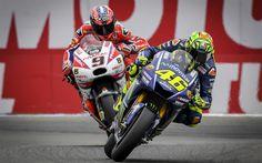 Descargar fondos de pantalla Valentino Rossi, piloto, motos deportivas, pista de carreras, MotoGP, Yamaha