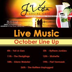 October Live Music Line Up has been finalized. We love to support our local bands as well as returning old favourites. Watch this space - we are revealing some exciting themed weekends with great specials! Local Bands, Watch This Space, Live Music, Lineup, October