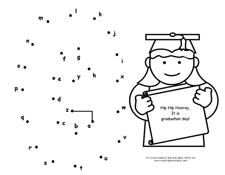 Dot to Dot Pages with a Graduation Theme from Making