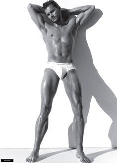 """Oh, and this is what Jamie Dornan looks like in his underwear. 