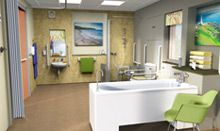 Find out how to make a hospital bathroom easier for a person with dementia to use