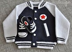 Best 12 Free and Single Crochet Baby Sweater and Cardigans for new 2019 – Page 16 of 53 – Kids Crochets – SkillOfKing. Crochet Baby Sweaters, Crochet Baby Cardigan, Crochet Baby Shoes, Crochet Baby Clothes, Crochet Bebe, Crochet For Boys, Knitting For Kids, Baby Knitting, Knit Crochet