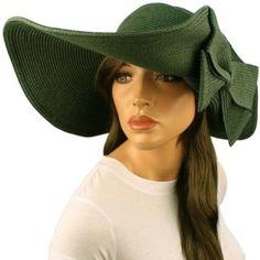 """50+ UPF Beach Summer Flip Up Down Velcro Wide 6"""" Brim Floppy Sun Hat Cap Olive SK Hat shop. $19.95"""
