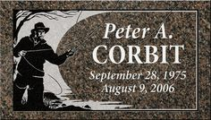 Individual - use golfer in place of fisherman......    Individual Headstone Designs | Pacific Coast Memorials